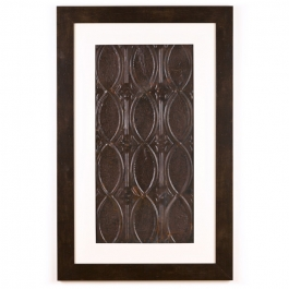 1 Panel X-Large Rectangle with Espresso Brown Frame