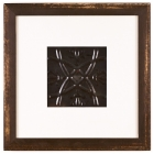 1 Panel Medium Square with Distressed Brown Frame