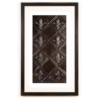 1 Panel X-Large Rectangle with Distressed Black Frame