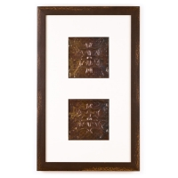 2 Panel Small Rectangle with Distressed Brown Frame