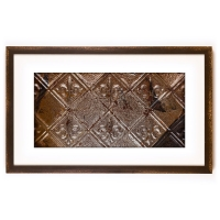 1 Panel X-Large Rectangle with Distressed Brown Frame