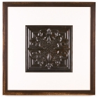 1 Panel Large Square with Distressed Brown Frame