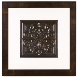 1 Panel Large Square with Espresso Brown Frame