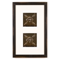 2 Panel Small Rectangle with Distressed Black Frame