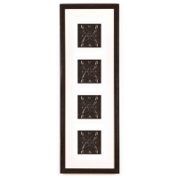 4 Panel Large Rectangle with Distressed Black Frame