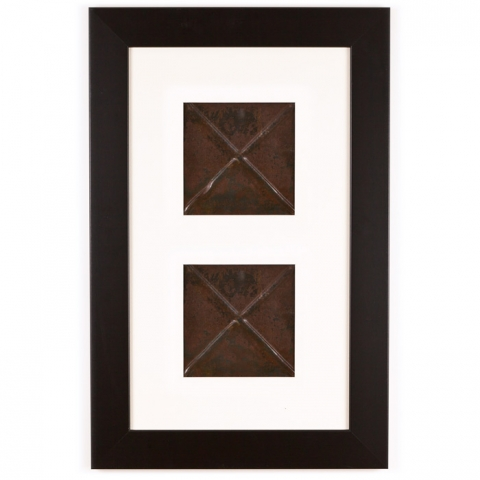 2 Panel Small Rectangle with Classic Black Frame