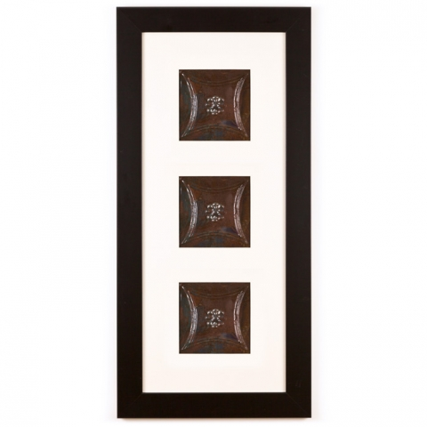 3 Panel Medium Rectangle with Classic Black Frame