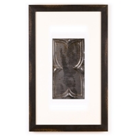 1 Panel Small Rectangle with Distressed Black Frame