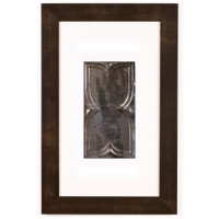 1 Panel Small Rectangle with Espresso Brown Frame