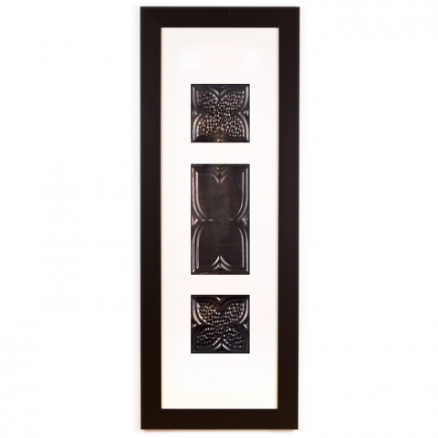 3 Panel Large Rectangle with Classic Black Frame