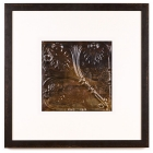1 Panel Large Square with Distressed Black Frame