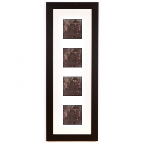 4 Panel Large Rectangle with Classic Black Frame