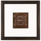 1 Panel Medium Square with Distressed Black Frame