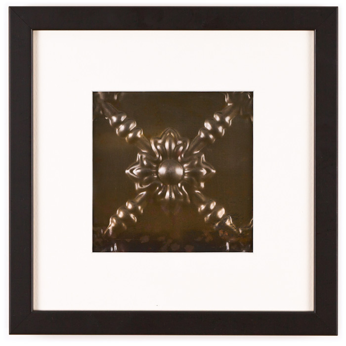 1 Panel Small Square with Classic Black Frame